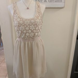 American eagle blush colored dress sz sm